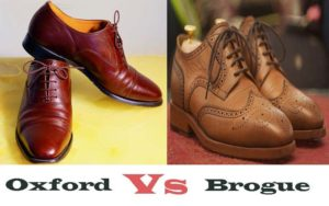 Difference between Oxfords and Brogues
