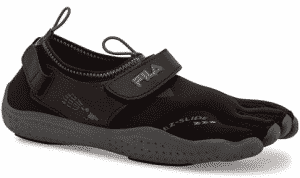 Fila Women's Skele-Toes EZ Slide Drainage Outdoor Sneakers, Black Textile, Synthetic, 5 M