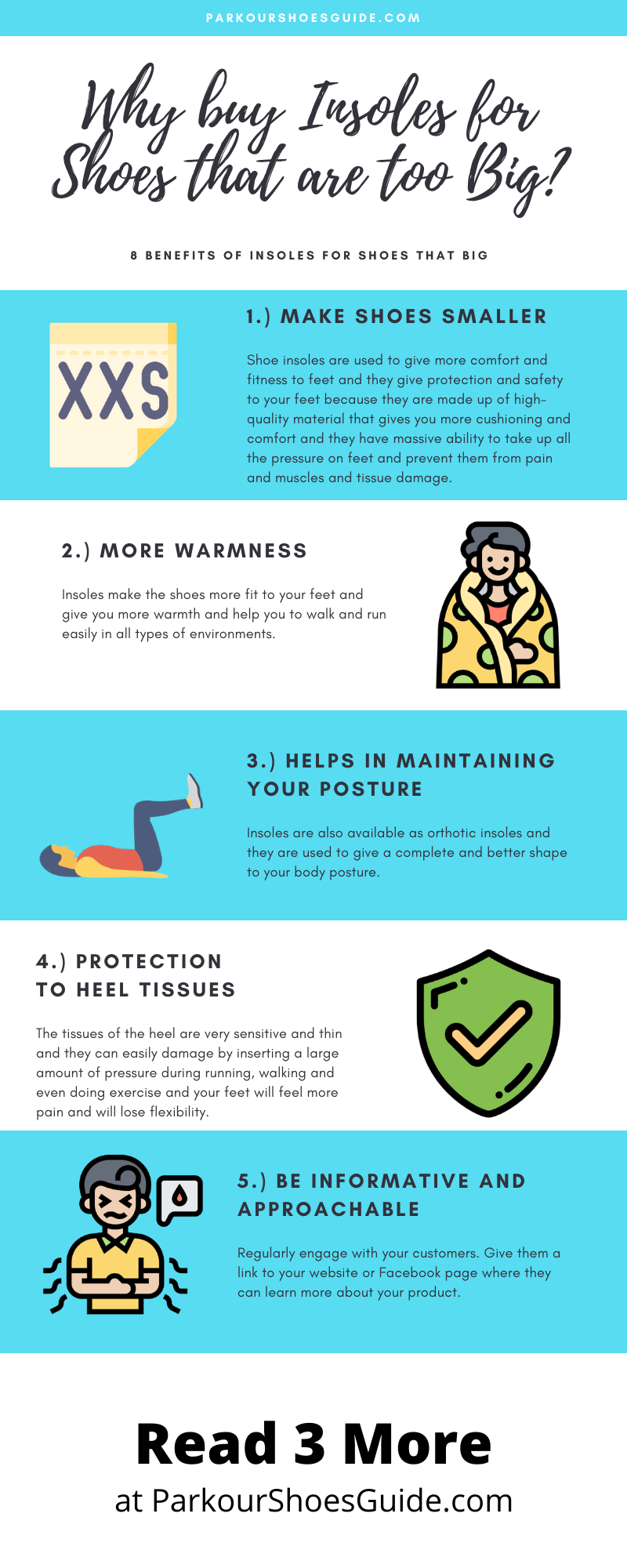 Infographics: Best Insoles for Shoes that are too Big