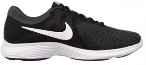 Nike Mens Revolution 4 Running Shoe Black White Anthracite 10 Regular US